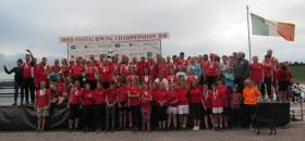 Kilmacsimon celebrate at the National Rowing Centre
