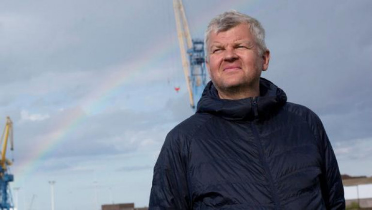 Adrian Chiles visiting Belfast Harbour for BBC Two series Our Coast