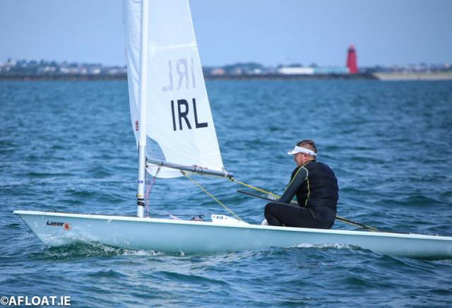 Ross O'Leary of the Royal St. George Yacht Club was second in both DBSC Laser Standard races