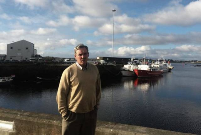 Cllr Joe Folan at Rossaveal Harbour in Connemara, Co. Galway. The local councillor has called on the Government for a deep water berth to facilitate cruiseships to visit the region.