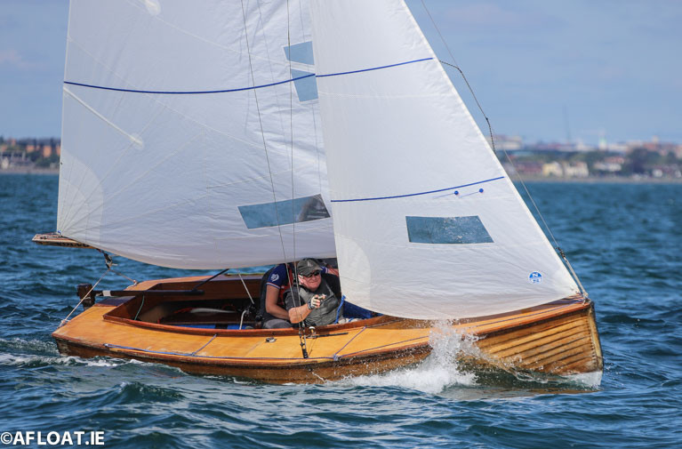 Mermaid dinghy sailing on Dublin Bay