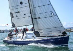 The Beneteau 31.7 race boat 'Indigo' competing on Dublin Bay. The Summer racing season is less than 100 days away so now is the time to prep your boat for the 2019 season says sailing coach Mark Mansfield in his top tips article below