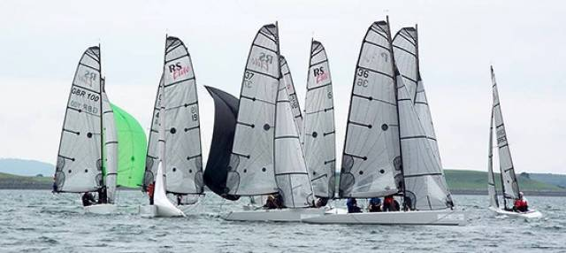 RS Elite racing in Strangford at the UK Nationals