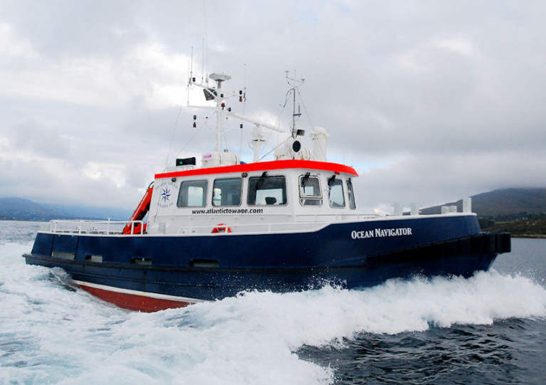 The Ocean Navigator is one of two vessels conducting the DeSIRE Survey from 13-26 July