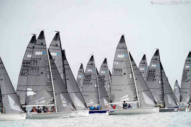Day one of the SB20 Worlds in Hyeres