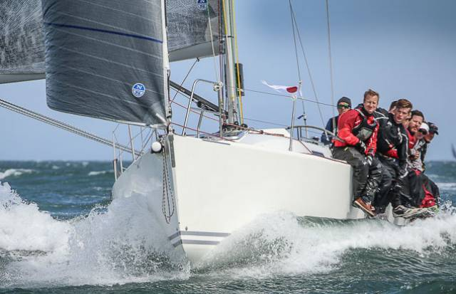 Powering along – Andrew Algeo steered Juggerknot to East Coast victory on Dublin Bay