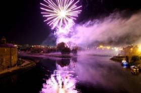 Last year's spectacular fireworks display lighting up Enniskillen