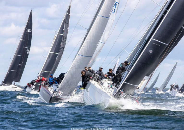 Racing at the 2019 X-Yachts Gold Cup at the yacht brand's HQ in Haderslev