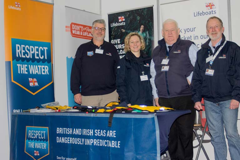 The Howth RNLI Community Safety Team promote water safety at the Ireland Angling 2020 exhibition in Swords