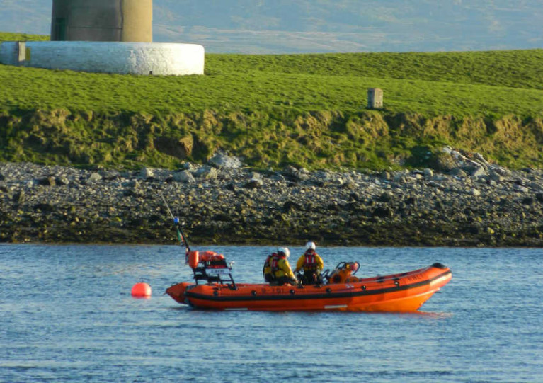 Sligo Bay Lifeboat Launches To Swimmer In Difficulty At Rosses Point