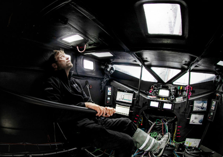 Alex Thomson inside the nerve centre of his IMOCA 60 Hugo Boss