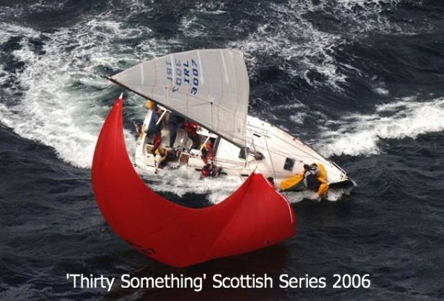 Thirty Something competing at the Scottish Series