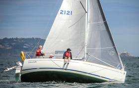 Andrew Bradley's Dun Laoghaire Marina–based 'Chinook' was third in Saturday's first B211 One Design DBSC race