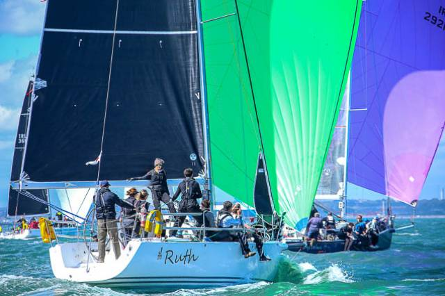 J109s racing on Dublin Bay. The 36-footers are a feature of HYC's inaugural regatta this June Bak Holiday weekend