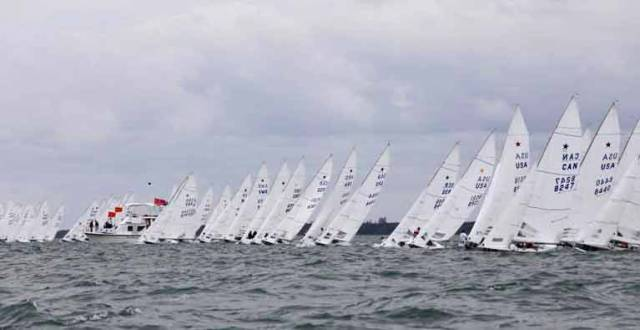 The start of the final race at the 2018 Star Class Bacardi Cup