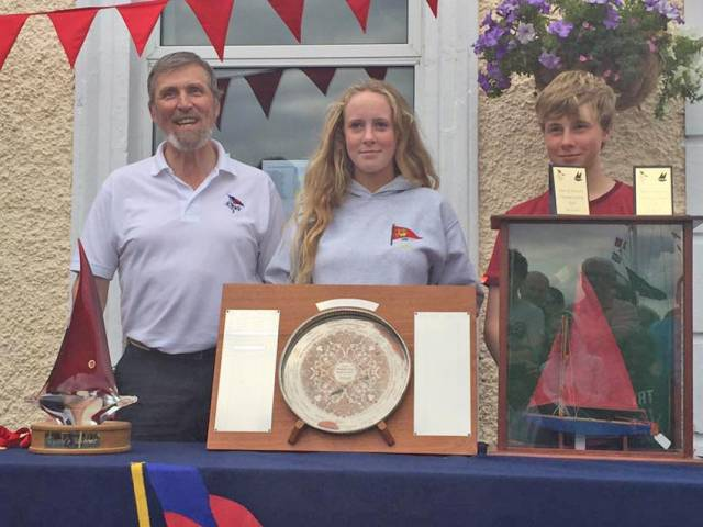 Hannah Smith and Ben Graf at 2017 Mirror Easterns prizegiving in Clontarf last Sunday