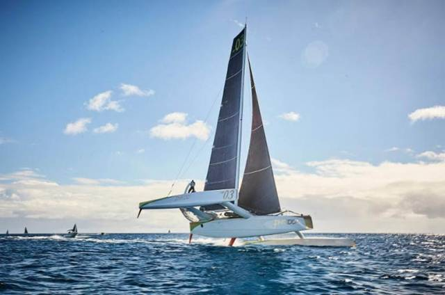 Lloyd Thornburg's MOD70 Phaedo3 at the start of the RORC Transatlantic Race, Lanzarote © RORC/James Mitchell