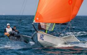 Ireland's 49er Skiff pair Ryan Seaton and Matt McGovern from Ballyholme Yacht Club in Northern Ireland are seventh in Rio after nine races sailed