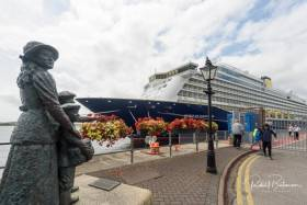 The 'Spirit of Discovery in Cobh. The brand new luxury boutique British liner carried 999 passengers into Cork Harbour in July