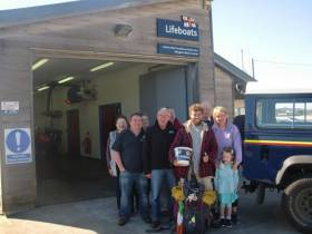 Alex Ellis-Roswell with friends from Ballyglass RNLI