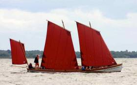 Worthy of celebration and support. Cork City's own Bantry Boat, the Fionnbarra, sailing in style on Lough Neagh, the setting for this year's biennial Atlantic Challenge in July