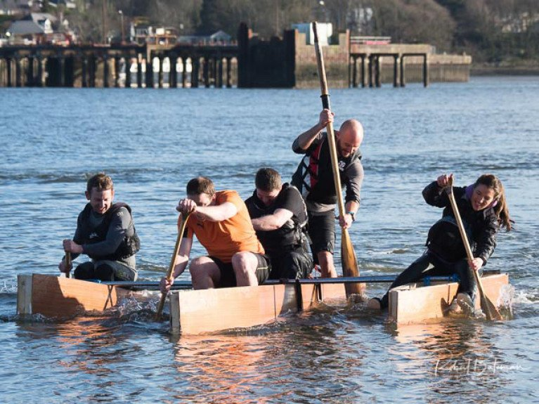 Pull like a Dog - Great fun and games at the MBSC raft race. Scroll down for photo gallery