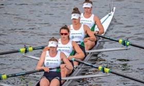 The Irelnd women's four: Emily Hegarty, Aileen Crowley, Monika Dukarska, Tara Hanlon
