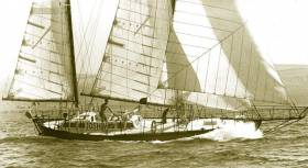 Bernard Moitessier's steel ketch Joshua. A One-Design class of ten new boats developed to this design is planned to provide the backbone of the fleet for the 2022 Golden Globe re-enactment.
