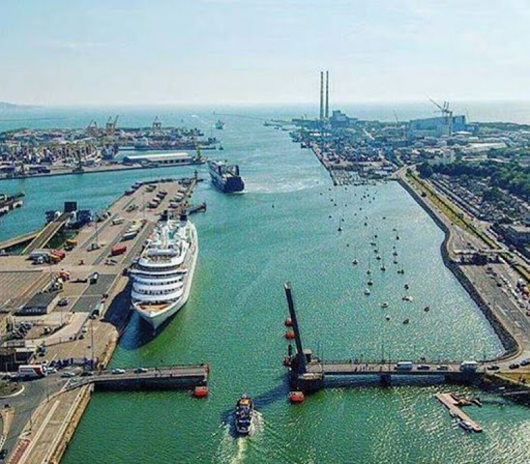 Dublin Port at its most attractively busy on a summer's day. However, the suggestion that commercial port activities be moved elsewhere to aid city waterfront development has recently been aired yet again.