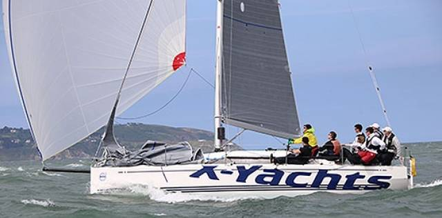 Colin Byrne's Bon Exemple from the Royal Irish YC was the winner of today's DBSC Cruisers One IRC handicap race