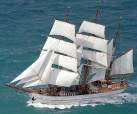 Tall Ship 'Kaskelot' which will make its debut at this year's Foyle Maritime Festival (14-22 July) in Derry-Londonderry