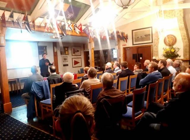 Tom Dolan giving his talk at the Royal Cork last week