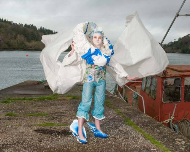 Sally O'Flynn and Hanna D'Aughton's eye-catching design recycles fabric sourced from the UK Sailmakers loft in Crosshaven