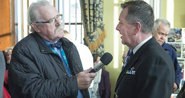 Marcus Connaughton interviews Chief of Staff of the Defence Forces – Vice Admiral Mark Mellett for the Afloat/Seascapes podcast