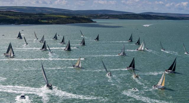 A record-sized fleet of 368 boats started the race, 12 more than two years ago, confirming the Rolex Fastnet Race's position as the world's largest offshore yacht race.