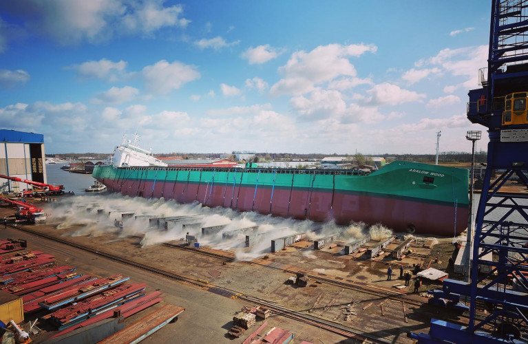 Launch of the last Arklow 'W' series, Arklow Wind at FerusSmit shipyard in Leer, Germany took place earlier this month