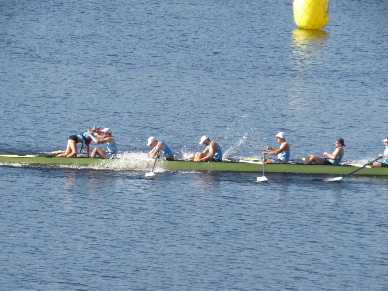 UCD's Senior Eight Celebrate winning at the Irish Championships in 2019