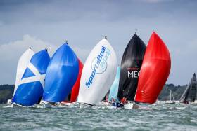 There was a sole Irish entry from the Royal St George Yacht Club at the UK SB20 Nationals on the Solent