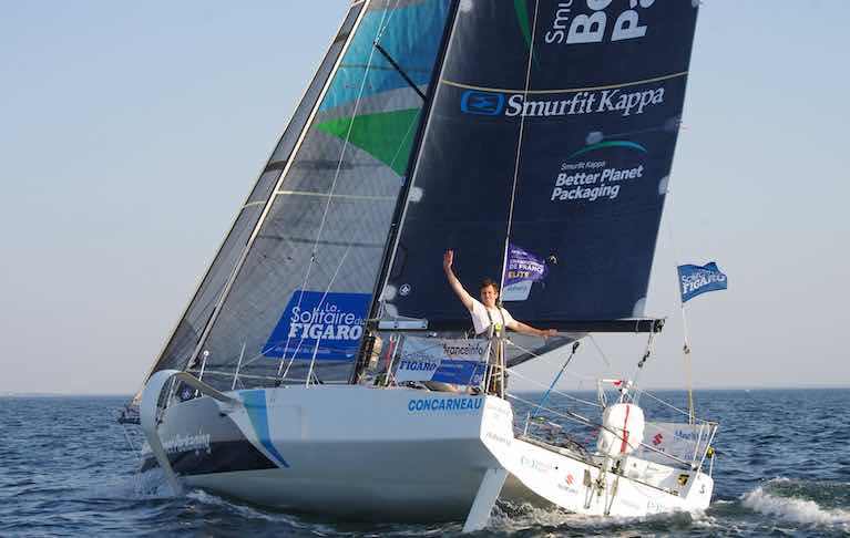 Tom Dolan at the Fastnet Rock. The County Meath sailor went on to finish fifth overall in this year's La Solitare du Figaro race, Ireland's best ever result
