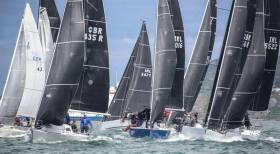 15 boats make up Division two where Half Tonners (pictured above) are sure to make their presence felt. Photo: Afloat.ie
