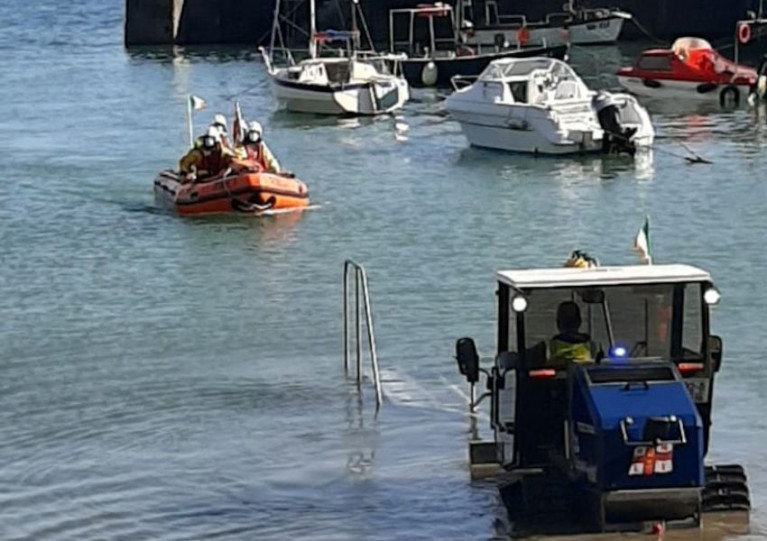 Tramore Lifeboat Rescues Swimmer In Difficulty