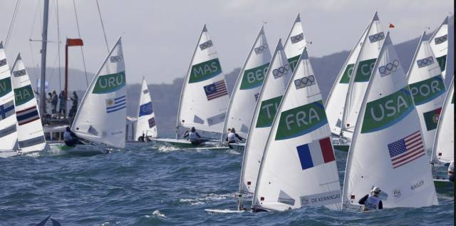Race eight for the Laser Radials was on the Pia course