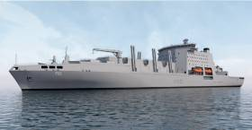 On the Irish Sea the UK shipyard on Merseyside, Cammell Laird has been shortlisted as part of a syndicate of British firms to compete against international bids to secure a contract to build three Fleet Solid Support (FSS) ships for the country's Ministry of Defence.