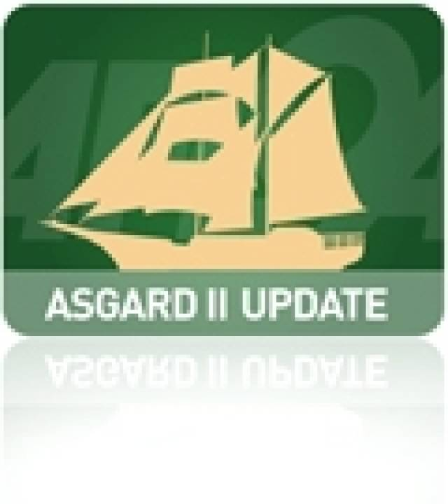 Container may have sunk Asgard II