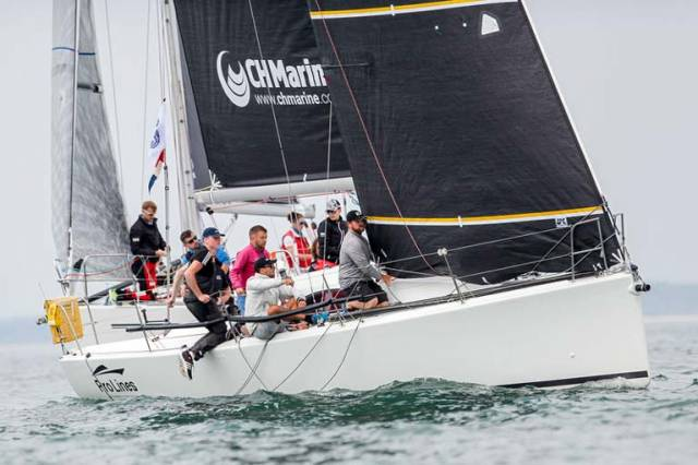 The Waterford yacht Fools Gold now moves up to fourth overall in the 12–boat fleet