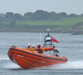 Portaferry RNLI's inshore lifeboat on exercise