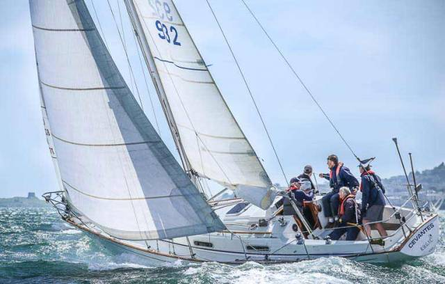 Royal St. George's Cevantes skippered by Paul Conway was the winner of Cruiser 5B IRC in Thursday's DBSC race on Dublin Bay