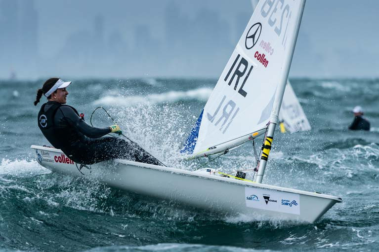 The National Yacht Club's Annalise Murphy leads the Irish Radial Olympic Trials that will now be rescheduled following the cancellation of Trofeo Princesa Sofia Regatta