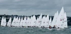 Laser 4.7s start in Cork Harbour. Scroll down for photo gallery