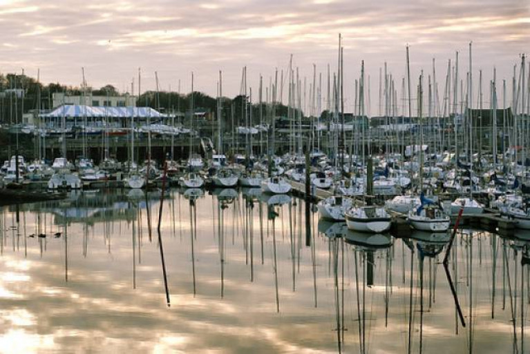 Howth Yacht Club and its Marina in north County Dublin